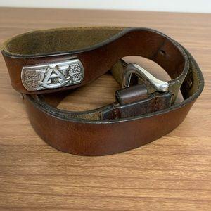 Auburn University Leather Belt